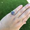 3.62ct (est) Georgian Sapphire Cluster Ring AGL No Heat 25