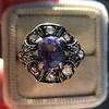 3.62ct (est) Georgian Sapphire Cluster Ring AGL No Heat 6