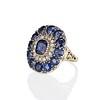 4.55ctw Victorian-era Sapphire and Rose Cut Diamond Ring 1