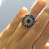 4.55ctw Victorian-era Sapphire and Rose Cut Diamond Ring 37