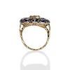 4.55ctw Victorian-era Sapphire and Rose Cut Diamond Ring 5