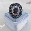 4.55ctw Victorian-era Sapphire and Rose Cut Diamond Ring 22