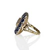 4.55ctw Victorian-era Sapphire and Rose Cut Diamond Ring 4