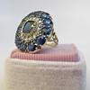 4.55ctw Victorian-era Sapphire and Rose Cut Diamond Ring 30