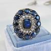 4.55ctw Victorian-era Sapphire and Rose Cut Diamond Ring 26
