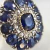 4.55ctw Victorian-era Sapphire and Rose Cut Diamond Ring 13
