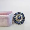 4.55ctw Victorian-era Sapphire and Rose Cut Diamond Ring 29
