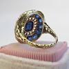 4.55ctw Victorian-era Sapphire and Rose Cut Diamond Ring 9