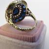 4.55ctw Victorian-era Sapphire and Rose Cut Diamond Ring 17
