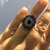 4.55ctw Victorian-era Sapphire and Rose Cut Diamond Ring 35