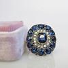 4.55ctw Victorian-era Sapphire and Rose Cut Diamond Ring 28