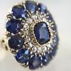 4.55ctw Victorian-era Sapphire and Rose Cut Diamond Ring 7