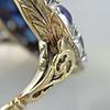 4.55ctw Victorian-era Sapphire and Rose Cut Diamond Ring 32