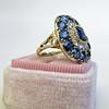 4.55ctw Victorian-era Sapphire and Rose Cut Diamond Ring 8