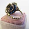 4.55ctw Victorian-era Sapphire and Rose Cut Diamond Ring 18
