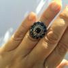 4.55ctw Victorian-era Sapphire and Rose Cut Diamond Ring 38