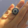 4.55ctw Victorian-era Sapphire and Rose Cut Diamond Ring 36