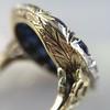 4.55ctw Victorian-era Sapphire and Rose Cut Diamond Ring 19