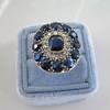 4.55ctw Victorian-era Sapphire and Rose Cut Diamond Ring 23