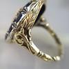 4.55ctw Victorian-era Sapphire and Rose Cut Diamond Ring 15