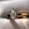 0.36ct Vintage Marquise Wedding Set 24