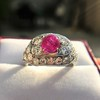 4.95ctw Art Deco Ruby and Diamond Dome Ring 26