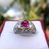 4.95ctw Art Deco Ruby and Diamond Dome Ring 8