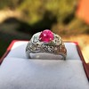 4.95ctw Art Deco Ruby and Diamond Dome Ring 12