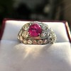 4.95ctw Art Deco Ruby and Diamond Dome Ring 23
