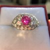 4.95ctw Art Deco Ruby and Diamond Dome Ring 19