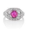 4.95ctw Art Deco Ruby and Diamond Dome Ring 0