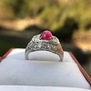 4.95ctw Art Deco Ruby and Diamond Dome Ring 7