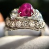 4.95ctw Art Deco Ruby and Diamond Dome Ring 31