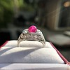 4.95ctw Art Deco Ruby and Diamond Dome Ring 22