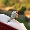 4.95ctw Art Deco Ruby and Diamond Dome Ring 17