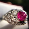 4.95ctw Art Deco Ruby and Diamond Dome Ring 29