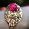 4.95ctw Art Deco Ruby and Diamond Dome Ring 28