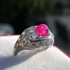 4.95ctw Art Deco Ruby and Diamond Dome Ring 37