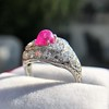 4.95ctw Art Deco Ruby and Diamond Dome Ring 38
