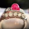 4.95ctw Art Deco Ruby and Diamond Dome Ring 33