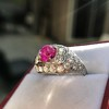 4.95ctw Art Deco Ruby and Diamond Dome Ring 21