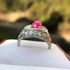 4.95ctw Art Deco Ruby and Diamond Dome Ring 16