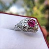 4.95ctw Art Deco Ruby and Diamond Dome Ring 9