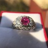 4.95ctw Art Deco Ruby and Diamond Dome Ring 13