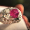 4.95ctw Art Deco Ruby and Diamond Dome Ring 35