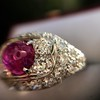 4.95ctw Art Deco Ruby and Diamond Dome Ring 30