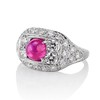 4.95ctw Art Deco Ruby and Diamond Dome Ring 1