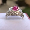 4.95ctw Art Deco Ruby and Diamond Dome Ring 18