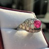 4.95ctw Art Deco Ruby and Diamond Dome Ring 20