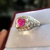 4.95ctw Art Deco Ruby and Diamond Dome Ring 25